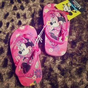 Disney Minnie Mouse Girls Flip Flops